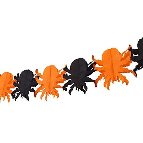 TOMMY LAMBERT Halloween Dekoration Halloween Katze Spinnen Kürbis Gruselige Hexe Halloween Girlande Papier Spukhaus Prop Girlande Haus Party Dekorationen Halloween Party Dekoration,5 Teile/Satz