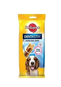 centros veterinarios mascotas: Pack de 7 Dentastix de uso diario para higiene oral para perros medianos   | [Pa...