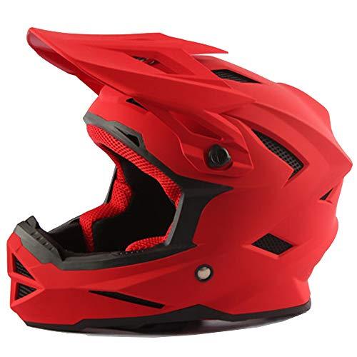 CAKUI Silberner Cool Predator Motorradhelm, Alien Warrior Maske mit LED-Licht Four Seasons Universal Integralhelm, DOT-zertifizierter Helm,M:57~58cm