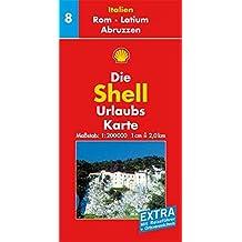 Rom, Latium, Abruzzen: 1:200000 (Shell Urlaubskarte Italien)