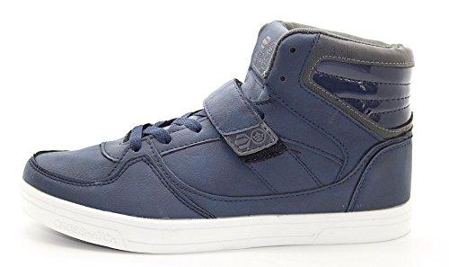 NEW hachuré style pour homme Étui à rabat haute Cheville lumière Poids Sneakers Chaussures de sport Bleu foncé