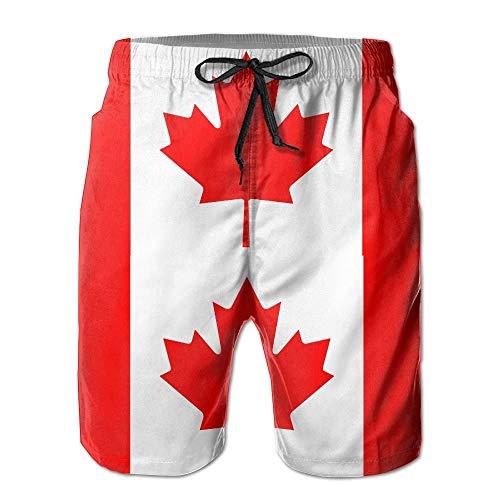 sheho Kanada Flagge Modische Herren Strand Shorts Board Badehose, Größe XL