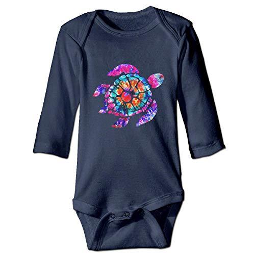 WBinHua Bodys et Combinaisons, Tie Dye Turtle Baby Unisex Long Sleeve Onesies Bodysuits