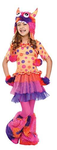 Horror-Shop Plüsch Monster Kinderkostüm M (Monster Kostüm Fuzzy)