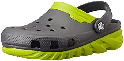 Crocs Duet Sport Max Unisex Adults' Clogs - Grey (Graphite/Volt Green), 4 UK Men/5 UK Women (37-38 EU)