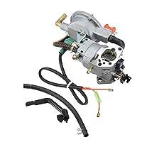 TOPINCN Manual Dual Fuel Carburetor for HONDA GX390 188F 190F Gas Generator 17210-ZE3-505 Air Filter Gas Fuel Tank Joint Filter Lawnmower Water Pumps