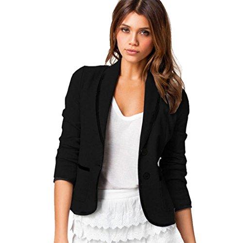 SEWORLD 2018 Damen Mode Sommer Herbst Elegant Schal Business Mantel Blazer Anzug Langarm Tops Dünne Jacke Outwear Größe S-6XL(Schwarz,EU-50/CN-6XL)
