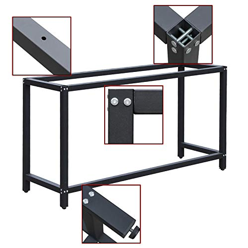 Werkbankgestell B50xL175xH80cm Tischgestell Arbeitstisch Werkbank Packtisch Tisch Gestell