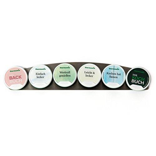 Chip-Board für Thermomix TM5, Halterung für Thermomix Zubehör, selbstklebendes Edelstahl-Board, Platz für 6 Thermomix-Rezeptchips