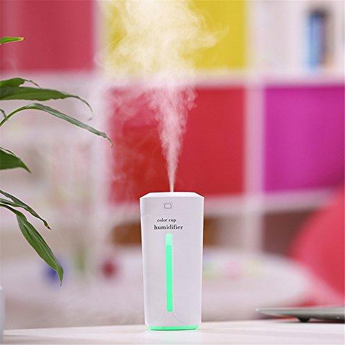 LMMET Diffusore di Aromi e Umidificatore Diffusore di Aromi a Ultrasuoni Elettrico Auto Batteria Purificatore Ambiente Diffusore Atomizzatore - Deodorante per filtro aria umidificatore USB 7 colo