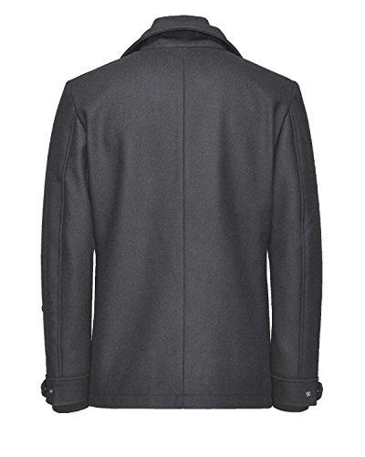 Jack & Jones Wolljacke Wollmantel Winterjacke Kurzmantel Dark Grey