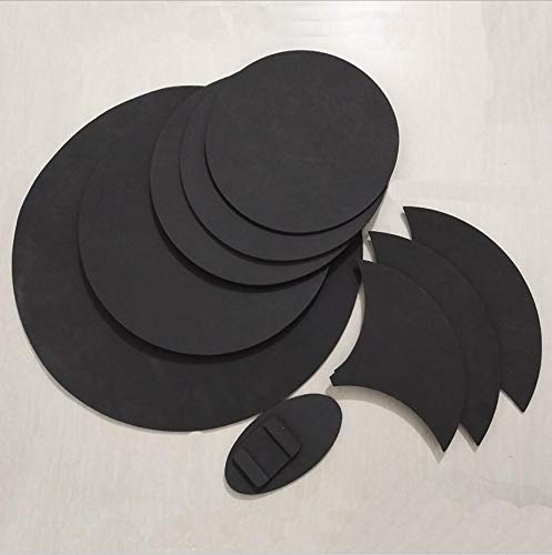 GUANG JUN Jazz Drum soundproof Drum pad Rubber Foam Bass Snare Drum Sound Off Quiet Mute Silencer Practice Pad 5 Drums 3 Cymbal Set - Drum Bass Mute