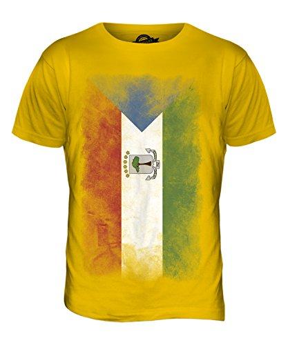 CandyMix Äquatorialguinea Verblichen Flagge Herren T Shirt Dunkelgelb
