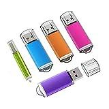 KEXIN USB Stick, 5 Bunt USB-Stick 16GB Stück Speicherstick 2.0 Mini Flash-Laufwerk Memory Sticks mit Kappe (Blau, Lila, Hot-Pink,Grün, Orange) (16GB*5PCS)