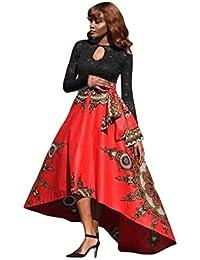a2863115379e Vestito da donna    Fami Nuove donne africane stampate estate gonna lunga  del partito di Boho Beach Maxi gonna…