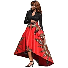 aae7ef68de2c Vestito da donna    Fami Nuove donne africane stampate estate gonna lunga  del partito di