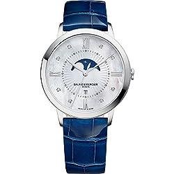 Baume y Mercier Classima ejecutivos–Reloj de cuarzo para mujer moa10226