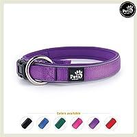 [Gesponsert]Pets&Partner Hundehalsband aus Neopren, reflektierendes Halsband in verschiedenen Farben für große und kleine Hunde, XS, Violett
