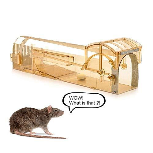 Duhe Mäusefalle Käfig Kunststoff Mehrweg-Rattenfalle transparent