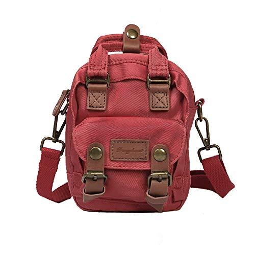 Zaino Mini Messenger Bag Borsa a tracolla Campus Borsa a tracolla per studenti Vino Rosso 20L