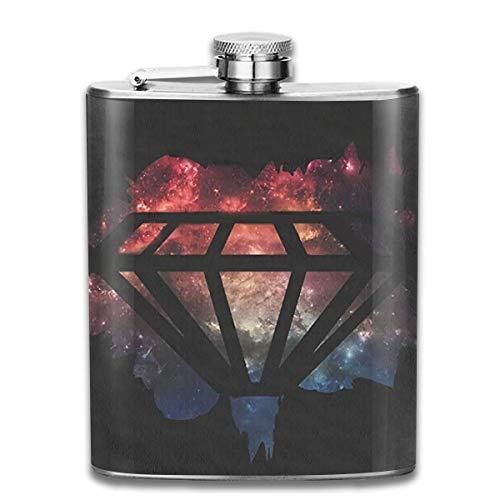 travel Flask Stainless Steel Flasks 7 Oz Galaxy Diamonds Bling Whiskey Flask Hip Flask Leak Proof Wine Men Women -