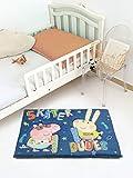 #7: Saral Home Peppa Pig Soft Velvet Printed Foam Mat- 40x60 cm