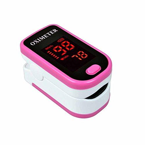 CHENG Fingeroximeter Pulse LED Oximetrie Überwachung Herzfrequenzmesser Fingertip Pulsoximeter,Pink