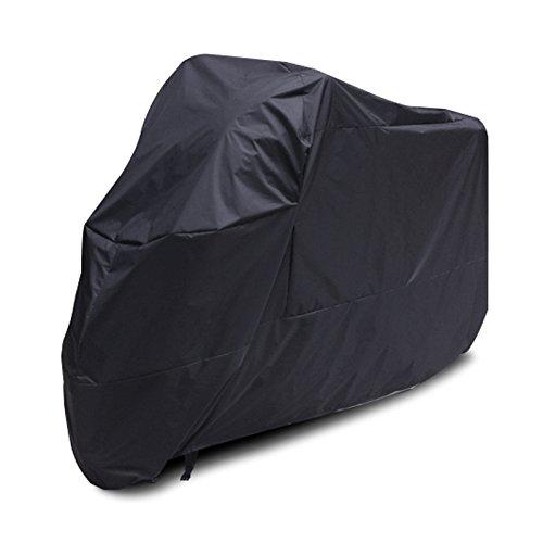 von Surepromise Gr. XL/XXL/XXXL Motorrad Garage Ganzgarage Abdeckplane Plane Faltgarage Schutz Covermit Tasche (XL, schwarz)