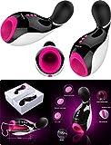 NALONE Oxxy, Wal Masturbator Mit Vibration, Steuerung durch Smartphone per Bluetooth, Schwarz & Rosa