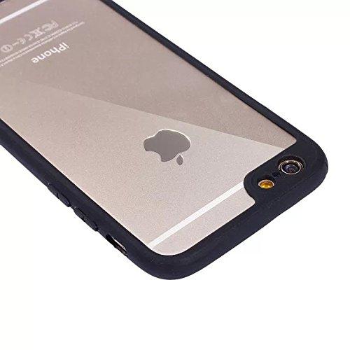 Etsue Silikon Schutz HandyHülle für iPhone 6S/iPhone 6 (4.7 Zoll) TPU Muster, Einzigartig Malerei Muster Silikon Handytasche Ultradünnen Weiche Transparent Handyhülle Crystal Klar Zurück Hülle Bumper  Rahmen,schwarz