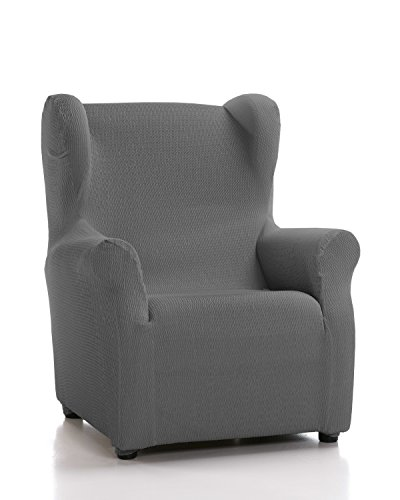 Schutzhülle aus elastischem Sessel Modell Tunez Bezug für Ohrensessel 33x42x8 cm grau