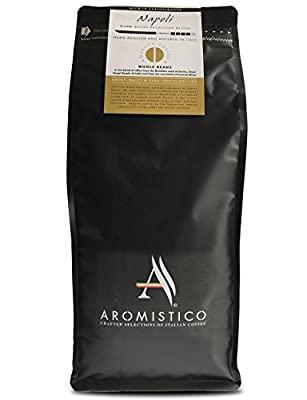 AROMISTICO | 1 Kg Premium Italian Roasted Whole COFFEE BEANS | NAPOLI or ROMA BLEND | For Espresso, Moka, Filter, Cafetiere, Pour-Over Drip, Aeropress (1KG) from Arca S.r.l.