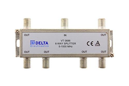 VT 0686, F-Verteiler 6-fach 5-1000 MHz, TV-Verteiler, BK-Verteiler, DVB-C, Kabelfernsehen, Splitter (Delta Splitter)