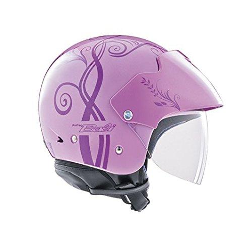 AGV - New Bali - Casco Jet abierto para mujer, para moto scooter, color rosa malva, talla XL 61 62 cm, visera larga