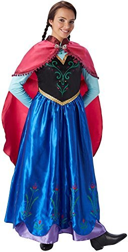 Damen Blau Anna Frozen Disney Prinzessin Film Kostüm Kleid Outfit UK 8-18 - Blau, 44-46