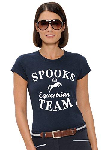 SPOOKS T Shirt für Damen Mädchen Kinder, Tailliert Sommer Tshirt mit Aufdruck aus Frotee - Bequem & Stylisch Team - Navy XS