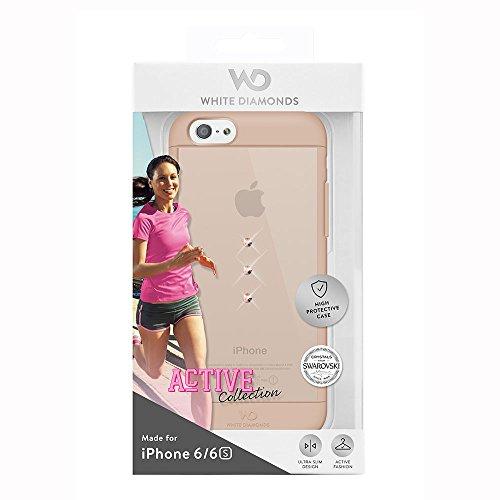 White Diamonds Wallet Schutzhülle für Apple iPhone 6, Eternity 18 Carat Rose Gold Clear, Apple iPhone 6/6s Active Collection Rose Gold