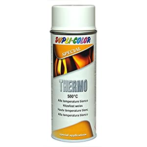 Dupli Color 409348 Thermo Bote de Pintura de Aerosol 500 Grados Celsius, 400 ml, Color Blanco