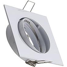 Aro Downlight Cuadrado Basculante para Bombilla LED GU10 / GU5.3 Blanco efectoLED