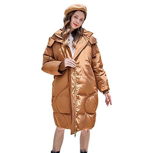YXXHM- Daunenjacke Frauen, Brotbekleidung, Warme Damen Daunenjacke, Lange Damenabschnitte, Winterjacke