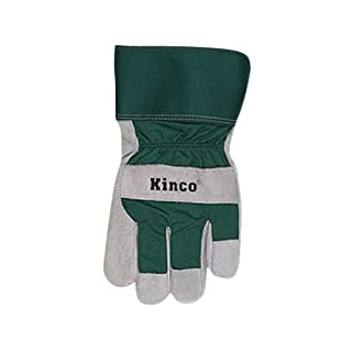 KINCO 1932-XL Men's Lined Suede Cowhide Leather Palm Gloves, Heat Keep Thermal Lining, X-Large, Green/Black by KINCO INTERNATIONAL