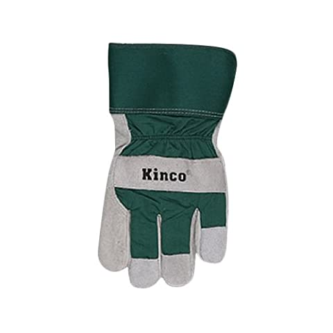 KINCO INTERNATIONAL - Extra-Large Men's Lined Suede Cowhide Leather Palm Gloves
