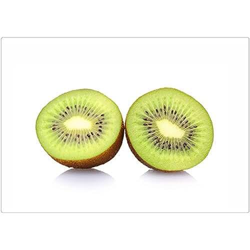dia del orgullo friki 100 Goods Silicona fruta de kiwi Todo tipo de clima Placemat , 11.4 x 16.1 x 0.03 Inches, Conjunto de 2 blanco transparente