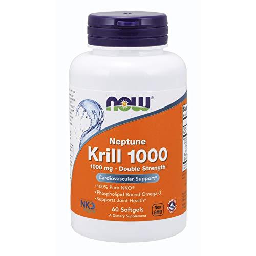 60 Gele Now Foods (Now Foods Neptune Krill Öl Omega-3 Doppelte Stärke, 1000mg, 50 Kapseln)