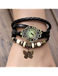 Rishiv Black Dial Slim And Butterfly Bracelet Watch For Girls And Women Or Teengirls Watch Wrist Watch For Girls
