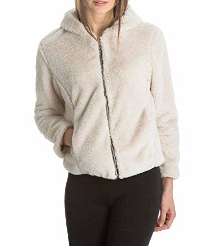 laura-moretti-abrigo-corto-de-pelo-con-capucha-color-beige-talla-unica