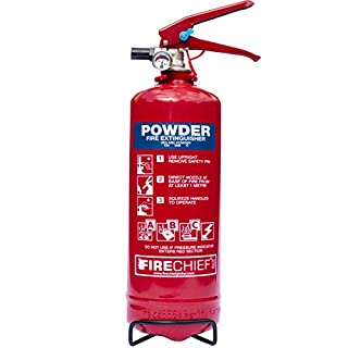 2kg Powder Fire Extinguisher from A2Z Fire with Full 5 Year Warranty for use at Home & in Vehicles such as Cars, Vans, Caravans & Boats. Safe to use on Class A, Class B, Class C & Electrical Fires