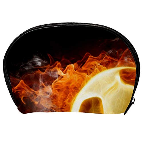bag Case Makeup Cosmetic Beauty Storage Bags,Facial Cleanser Skincare Kit Pouch Fireball Football Print,Portable Electronics Accessories Organizer ()