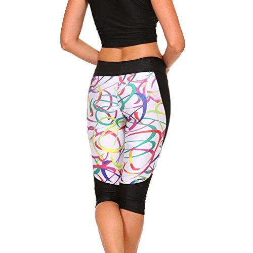 MONIKEEN Damen Printed High Elastic Sport Leggings Yoga Pants S M L 1107-3
