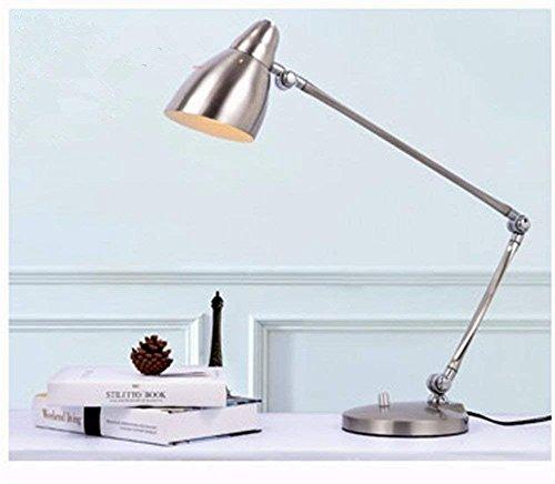 DHG Tischlampe-LED Leselampen Licht Büroarbeit und Studie Schreibtisch Falten Langarm Tischlampe
